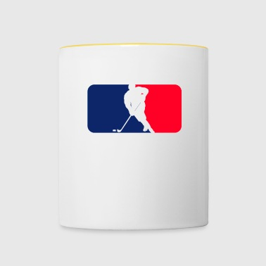 Hockey blue red white streetwear - Contrasting Mug