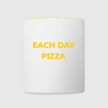 Pizza: pizza pizza every day! - Contrasting Mug