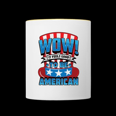 Stars and Stripes - Gift for Americans - Contrasting Mug