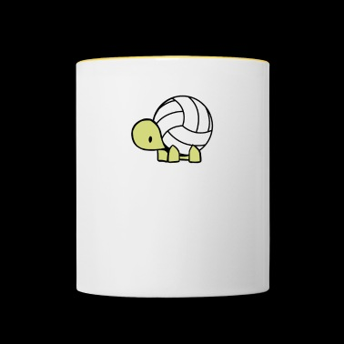Volley turtle - Contrasting Mug