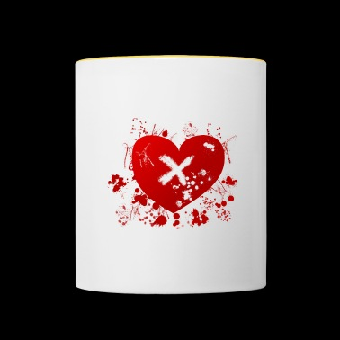 love rune for sex magic hearth blood splatter - Contrasting Mug