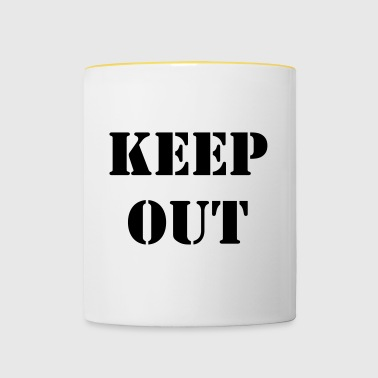 keep out - Tasse bicolore