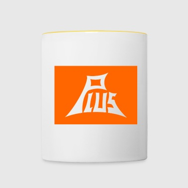 Plus orange white - Tasse zweifarbig