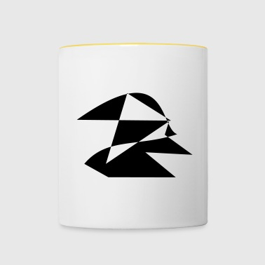 Motif figure with hood black white - Contrasting Mug