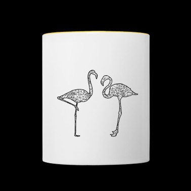 Graphic Flamingos - Contrasting Mug