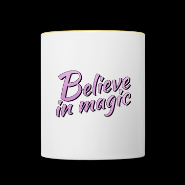Believe in magic logo in lilac - Contrasting Mug