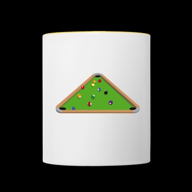 Bermuda Pool Table - Mug contrasté