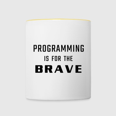Programming is for the brave - Kubek dwukolorowy