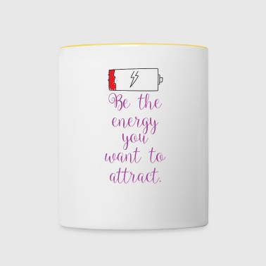 Attracting energy - Contrasting Mug