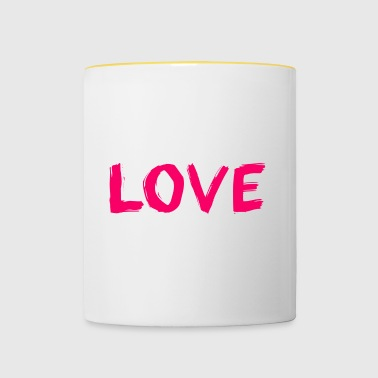 The word love - Contrasting Mug