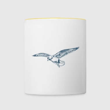 Seagull from the Baltic Sea - Contrasting Mug