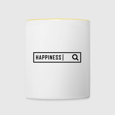 Search happiness - Contrasting Mug