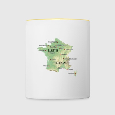 France Atlas - Tasse bicolore