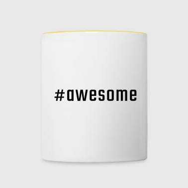 #awesome - Mug contrasté
