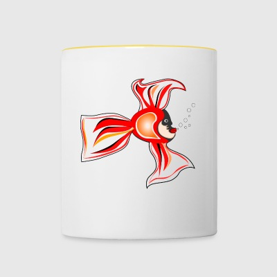 poisson - Tasse bicolore
