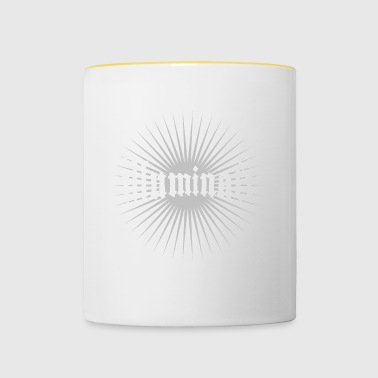 illuminati star fun writing secret swag rays 1 - Contrasting Mug