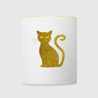 Golden Cat - golden Cat Gold Glitter Glitter - Tofarget kopp