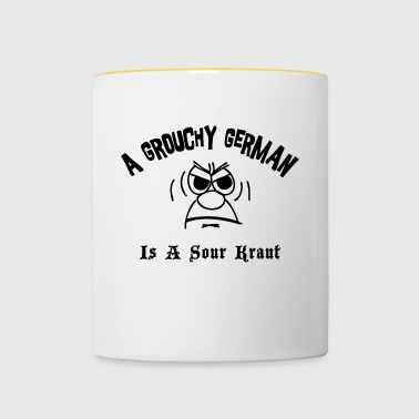 Grouchy Duits is een Zure Kraut - Mok tweekleurig