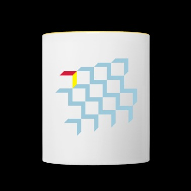 Illusion with cubes, blocks - Contrasting Mug