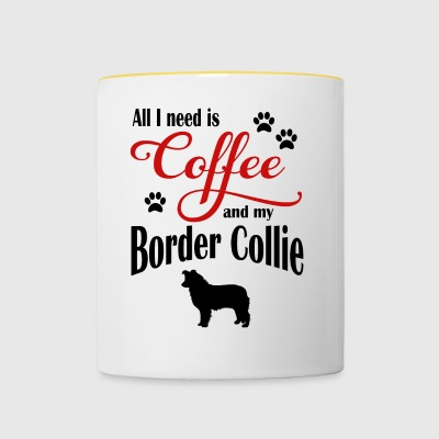 Border Collie Coffee - Contrasting Mug