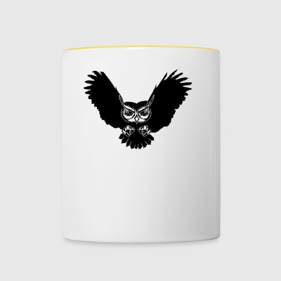 Owl in flight - Contrasting Mug