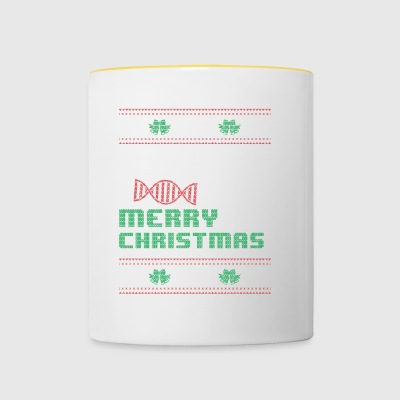 Funny Biology Shirt Merry Christmas - Contrasting Mug