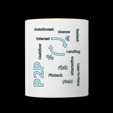 P2P - person to person credit - Contrasting Mug