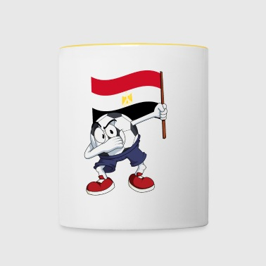 Egypte tamponnant Football - Tasse bicolore
