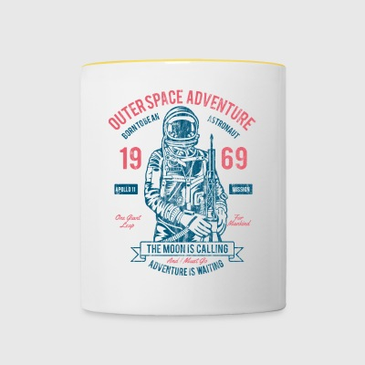 OUTER SPACE ADVENTURE - Astronauten Shirt Design - Mok tweekleurig