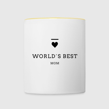WORLD´S BEST MOM - Tasse zweifarbig