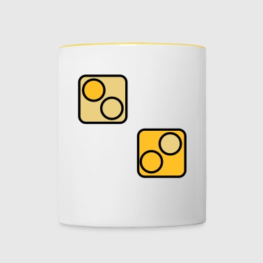 Dice Game | Dice Dice game | cup - Contrasting Mug