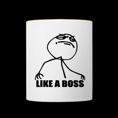 like a boss - boss shirt - Contrasting Mug