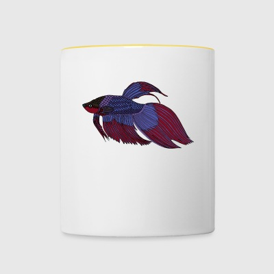 fishcoloured - Tasse zweifarbig