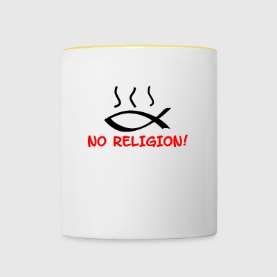 Poissons Motif NO RELIGION - Tasse bicolore