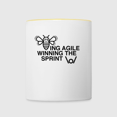BEING AGILE WINNING sprintin - Kaksivärinen muki