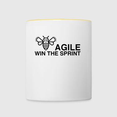 BE AGILE WIN THE SPRINT - Contrasting Mug