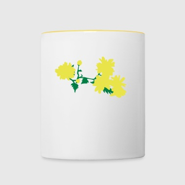 Natural floral asian style - Contrasting Mug