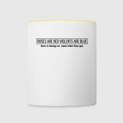 citation asiatique - Tasse bicolore