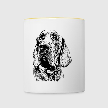 Great Dane black2 - Contrasting Mug
