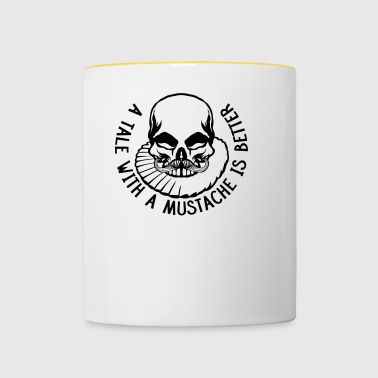 tete mort hipster citation tale mustache better - Tasse bicolore