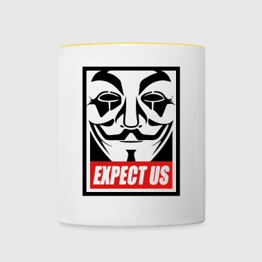Anonymous - Expect us - We are legion - Tasse zweifarbig