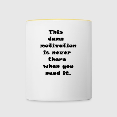 motivation - Tvåfärgad mugg