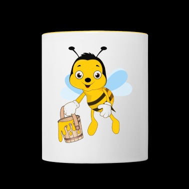 Bee beekeeping beekeeper honey honey bee - Contrasting Mug