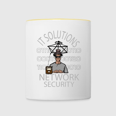 Network Security - IT - Computer - Network - Contrasting Mug