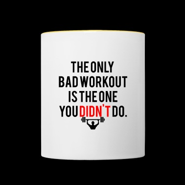 FITNESS MOTIVATION | THE ONLY BAD WORKOUT - Contrasting Mug