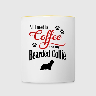 Bearded Collie caffè - Tazze bicolor