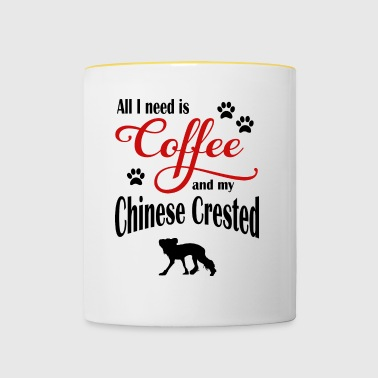 Chinese Crested Coffee - Contrasting Mug