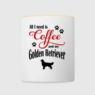 Golden Retriever Coffee - Tasse zweifarbig