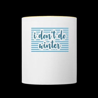 Winter Gift Weather Weather - Contrasting Mug