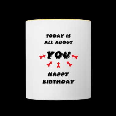 Happy Birthday! Happy Birthday! - Contrasting Mug